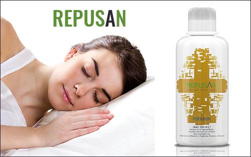 Mit Repusan endlich wieder entspannt einschlafen und ruhig durchschlafen.